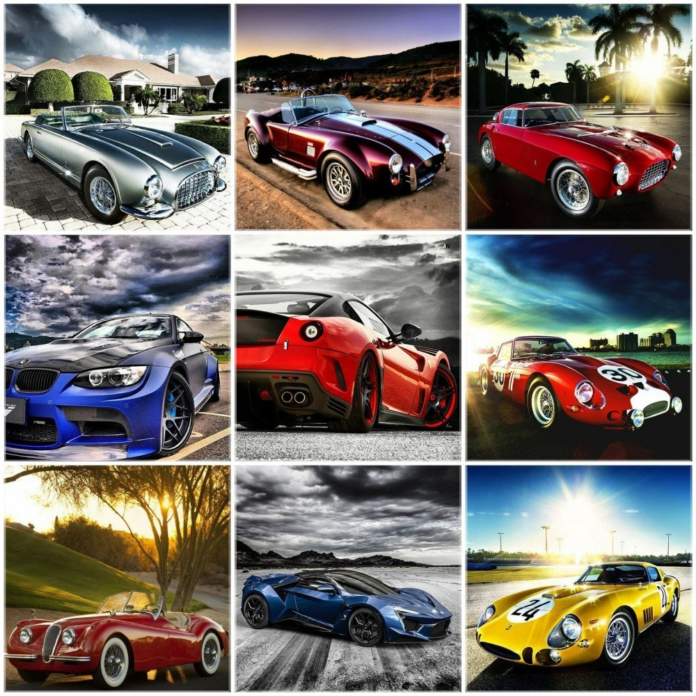 HUACAN Paint With Diamonds Sports Car Diy Diamond Painting Full Square Drill Embroidery Scenery Picture Of Rhinestone Decor HomeHUACAN Paint With Diamonds Sports Car Diy Diamond Painting Full Square Drill Embroidery Scenery Picture Of Rhinestone Decor Home