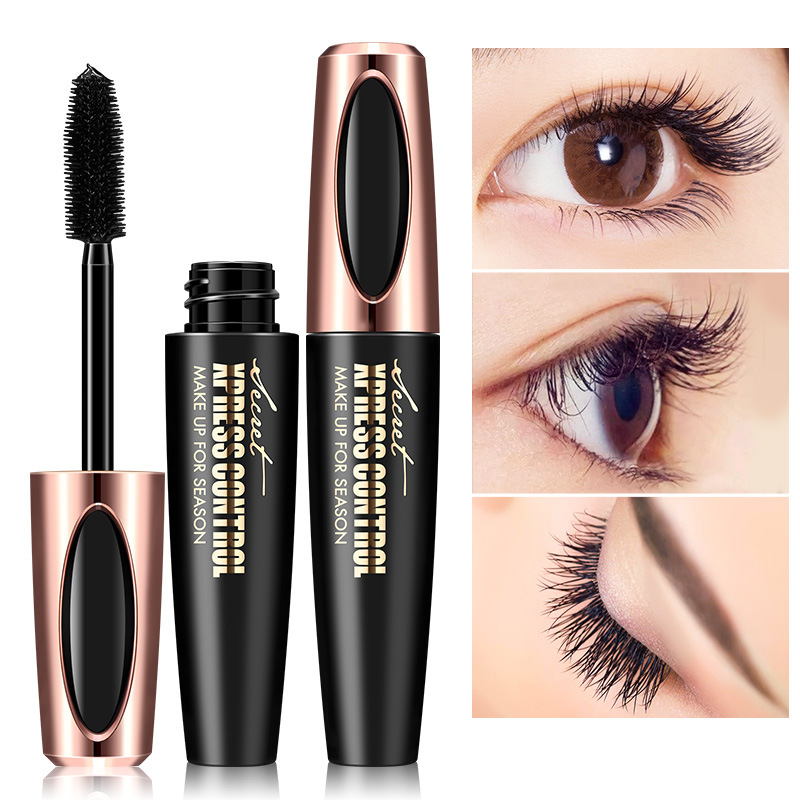 99908d6f9d4 Waterproof 4D Silk Fiber Eyelash Thick Lengthening Black Mascara Fashion  Sexy Makeup Cosmetics Eye Lash Extension