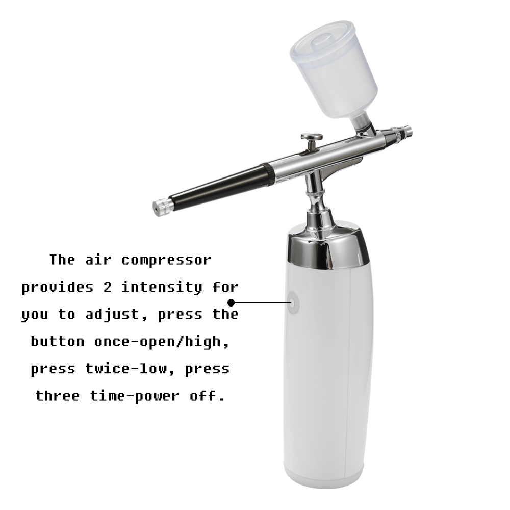 Airbrush Kits Portable Spray Pump Pen Air Compressor Set for Art Painting Tattoo Craft Cake Spray Model Beautiful Airbrush Kit-in Spray Guns from Tools    2