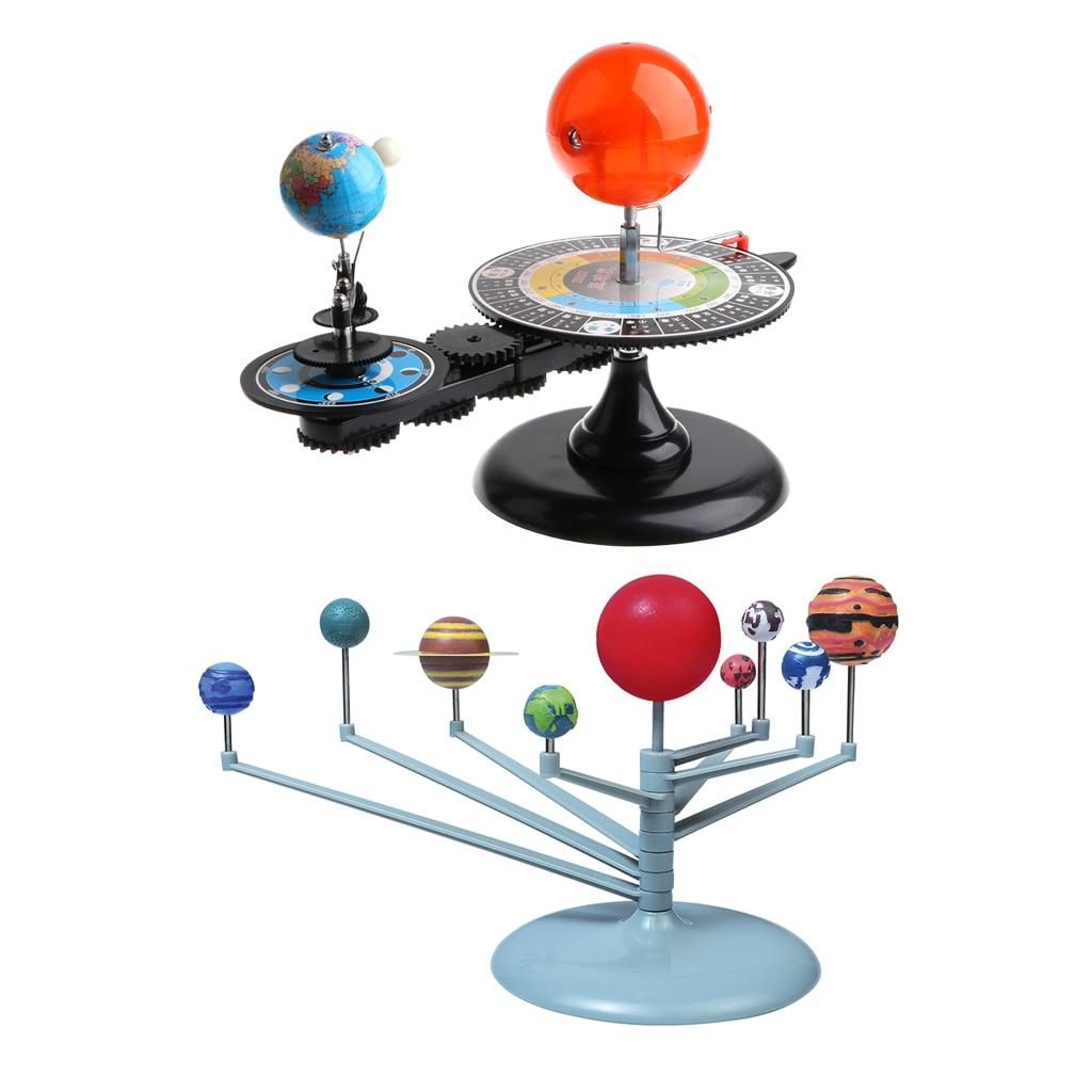 Sun Earth Moon modèle Orbital + système solaire planétarium modèle Science bricolage projet cadeau d'anniversaire pour enfants enfants étudiant - 4