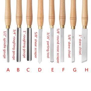 Image 4 - Outil de tournage du bois avec manche en bois, burin à tour en acier rapide, outil de menuiserie