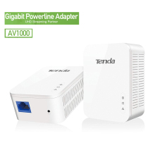 Tenda AV1000 1 пара Gigabit адаптер Powerline до 1000 Мбит/с PH3 Ethernet ПЛК Homeplug для Беспроводной Wi-Fi роутера партнер IPTV AV2
