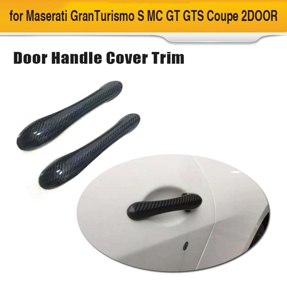 Autocollants de voiture en Fiber de carbone pour Maserati Granturismo S MC GT GTS Coupe 2 portes 2008-2012