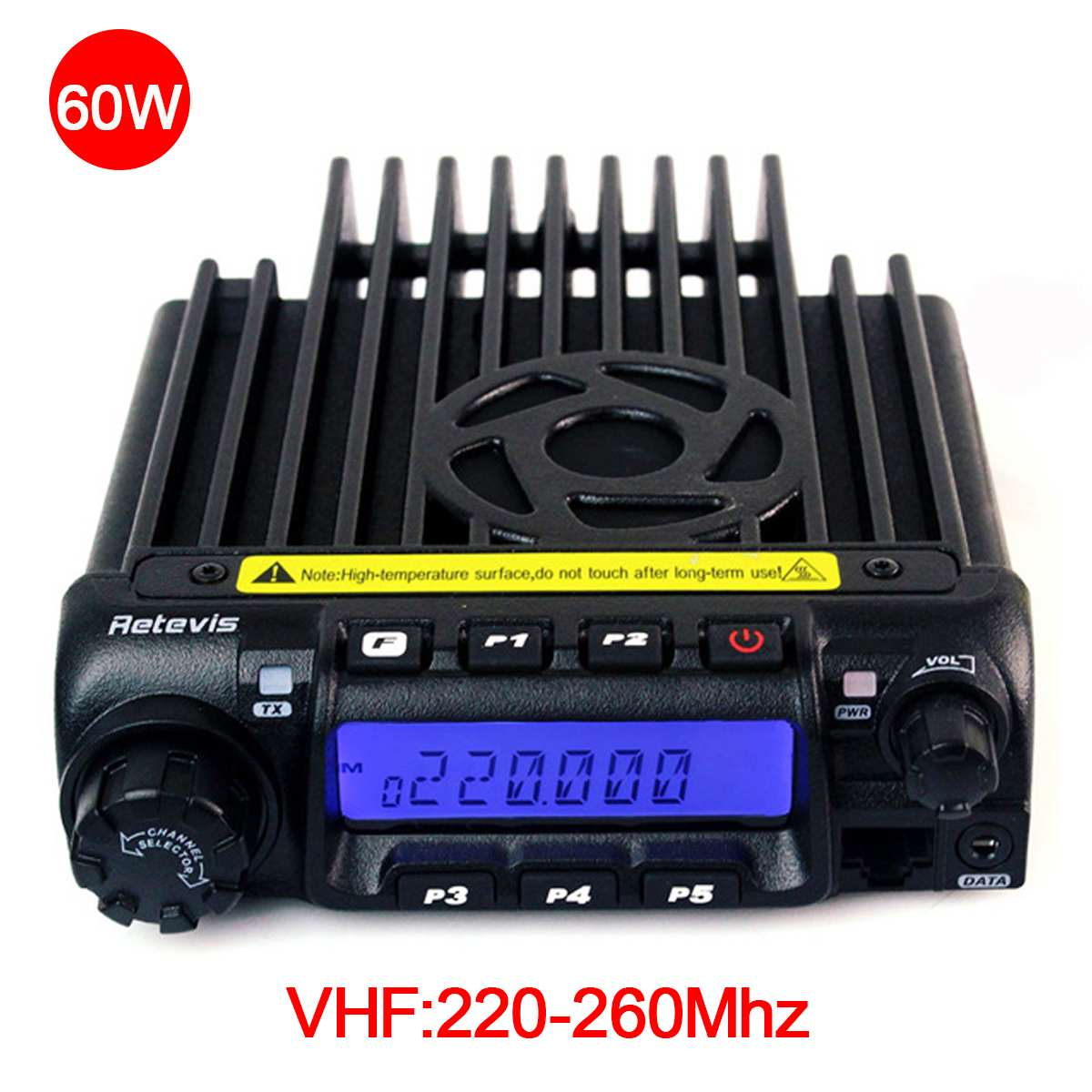 Retevis RT-9000D Auto Mobile Radio Ricetrasmettitore VHF 220-260 (o UHF) 60 W 200CH Scrambler Walkie Talkie + Speaker MIC + Cavo di ProgrammaRetevis RT-9000D Auto Mobile Radio Ricetrasmettitore VHF 220-260 (o UHF) 60 W 200CH Scrambler Walkie Talkie + Speaker MIC + Cavo di Programma
