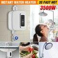 Eléctricos sin tanque 3500 W Mini instantánea calentador de agua caliente grifo de cocina grifo Calefacción de acero inoxidable temperatura constante automáticamente del