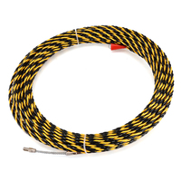 6.5mmX30m Wire Fish Tape Glass Fiber Nylon Electric Cable Push Puller Conduit Snake Cable Rodder Wire Guide Device Tools