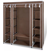 VidaXL Нетканая ткань складной шкаф портативный шкаф современный простой шкаф бытовая ткань салфетка для хранения шкафа