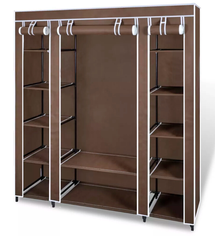 VidaXL Non Woven Fabric Collapsible Closet font b Portable b font Cabinet Modern Simple Wardrobe Household