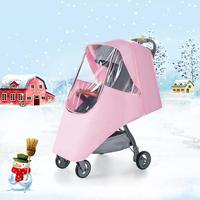 Baby Stroller Rain Cover Windshield Warm Cover Stroller Accessories Baby Stroller Rain Cover