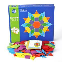 130 pz Montessori Puzzle di Legno Puzzle Di Puzzle di Bordo Set Kid Educativi Giocattolo Colorato