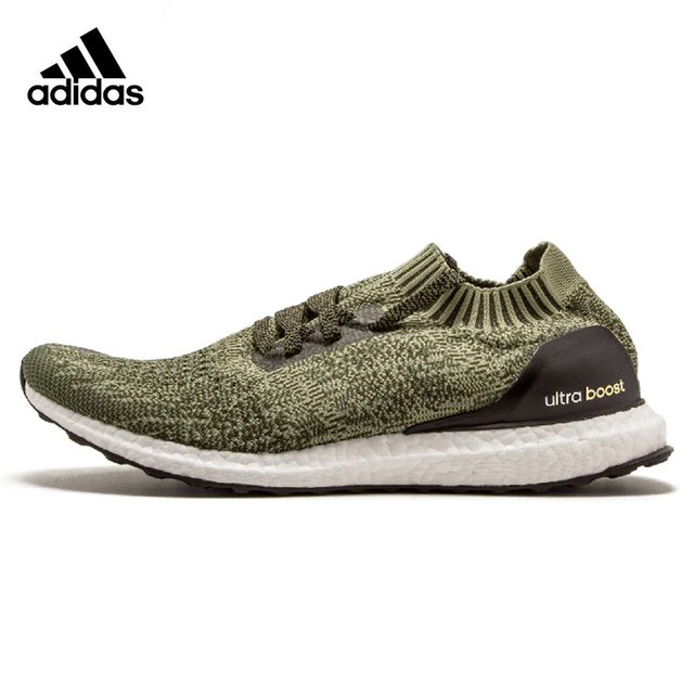 0d33fd39 Adidas Ultra BOOST Uncaged Original Men Running Shoes Sports Outdoor Army  Green Lightweight Breathable Sneakers #BB3901
