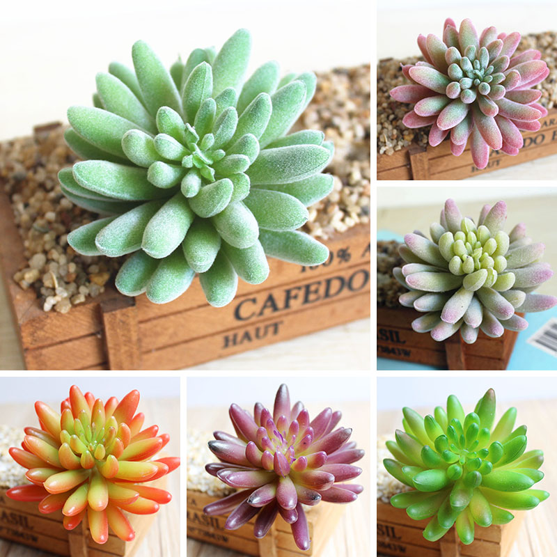 Artificial Decorations Office Living Room Simulation Mini Succulent Decoration Plastic Lotus Bonsai Landscape Decoration Garden Decoration Home Decor Festive & Party Supplies