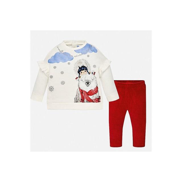 Комплект: футболка с длинным рукавом и леггины Mayoral для девочки