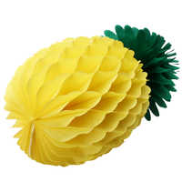 1pcs 20cm Hawaiian Pineapple Honeycomb Garland DIY Yellow Paper Pineapple for Summer Fiesta Party Child Birthday Home Decoration
