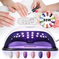 80W UV LED Nail Lamp Professional Sunlight Nail Gel Dryer Machine Fingernails Toenails Curing Equipment Nail Art Tool