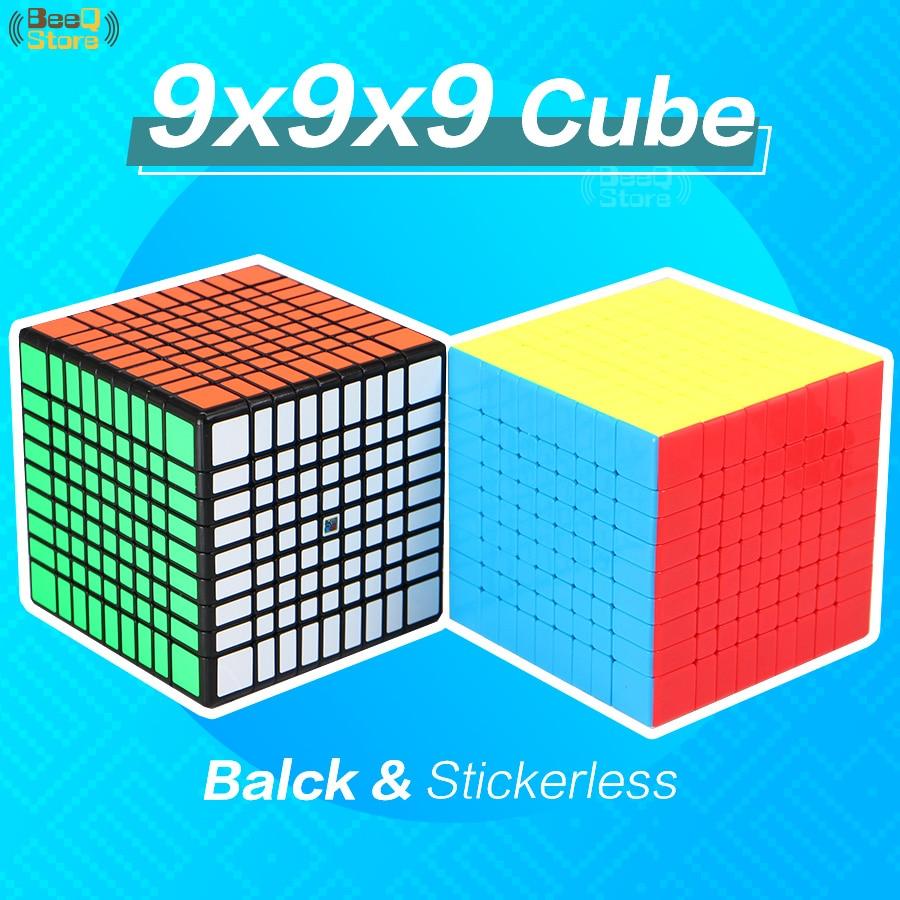 MF9 9x9x9 Cube 9x9 Speed Cubo Migico Moyu Cube Black/Stickerless  Professional Puzzle 9*9 Mini Cube  Educational Toy Kid