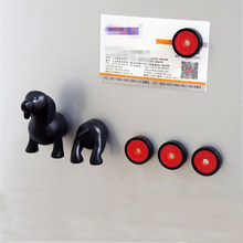 Cartoon Removable Dachshund Lucky Dog Fridge Magnet for Home Kitchen Card Message Tips Magnetic Stickers Aimant Frigo(China)