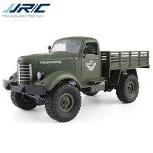 JJR/C JJRC Q61 1/16 2.G 4WD Off-Road Militaire Kofferbak Crawler RC Auto Afstandsbediening Speelgoed Borstel motor Kids Jongens Geschenken Groen Grijs