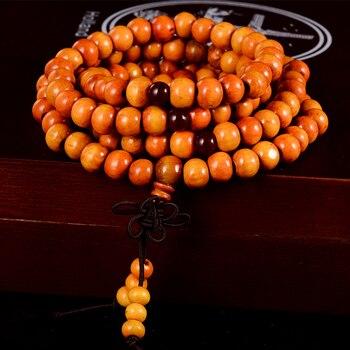 Natural Sandalwood Buddhist Buddha Wood Prayer Beaded Knot black ebony Unisex Bracelets & Bangles 5
