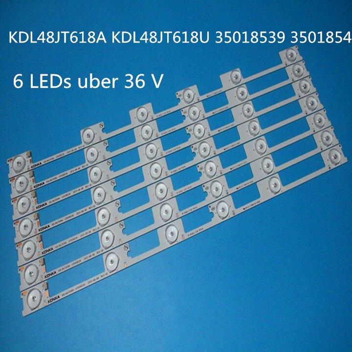Original New 100pcs / LED Strip Bar Backlight For KONKA KDL48JT618A KDL48SS618U 35018539 35018540 6LED LIGHT (6v) 442mm