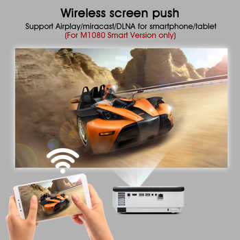 BYINTEK M1080 Full HD 1080P Smart Android WIFI Home Theater Game Movie Beamer Portable LED Mini Projector for 3D 4K Cinema