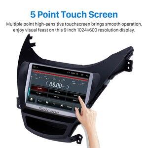 "Image 3 - Seicane Android 8.1 9"" GPS Navigation 2din Car Radio For Hyundai Elantra 2011 2012 2013 With 1080P DVR Steering Wheel Control"