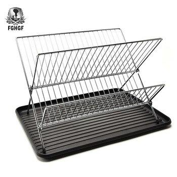 Cuencos de doble cubierta para estantería causados por el agua platos Marco de vajilla accesorios de cocina organizador soportes de almacenamiento Etagere