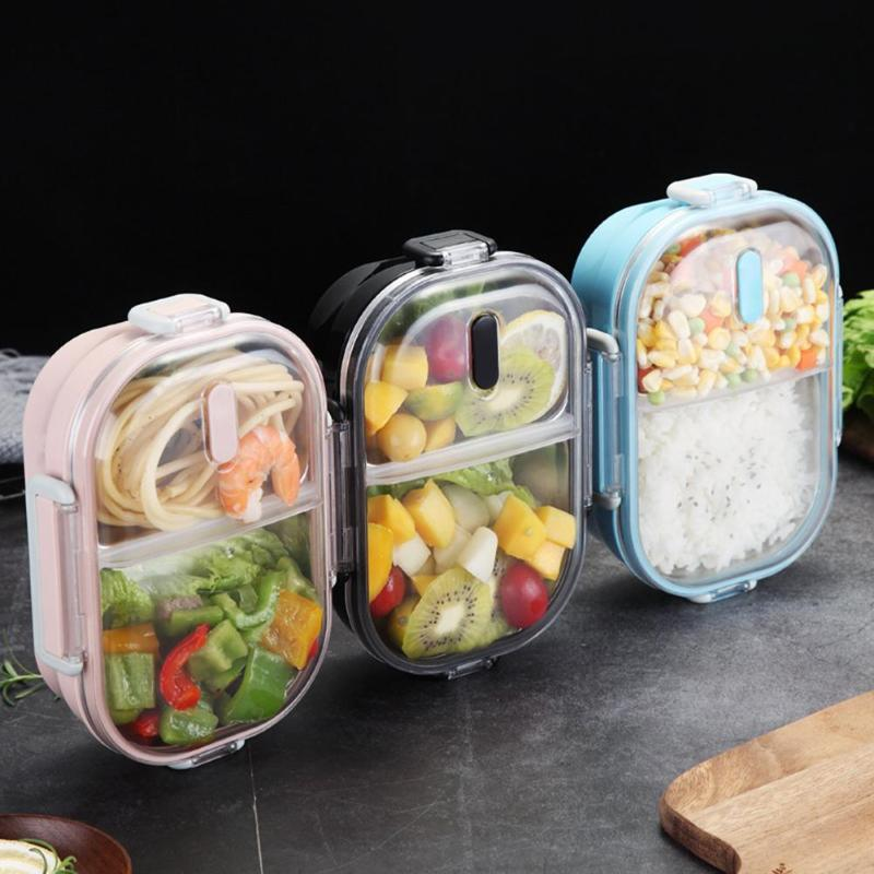 Japanese Portable Lunch Box For Kids School 304 Stainless Steel Bento Box Kitchen Leak-proof Food Container Food Box drop ship image