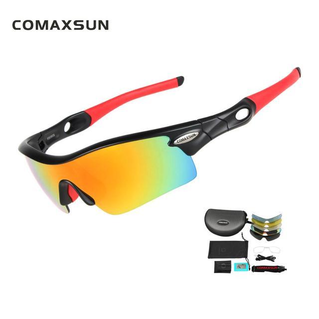 fc34b00f31 COMAXSUN Professional Polarized Cycling Glasses Bike Goggles Fishing  Outdoor Sports Sunglasses UV 400 5 Lens 5