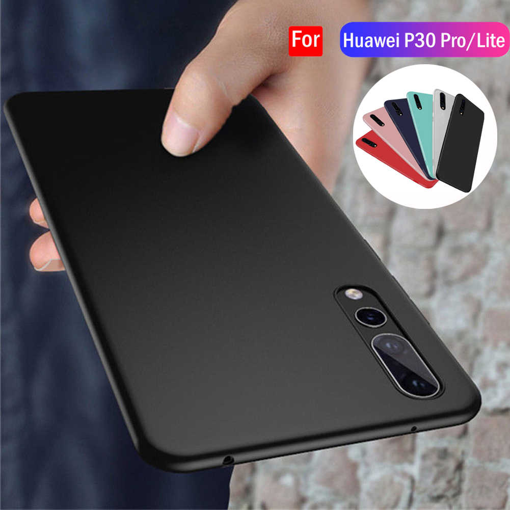 Case For Huawei P30 Pro/P30 Lite Slim Silicone Rubber Frosted TPU Cover Case For Huawei P Smart 2019/Y9 2019