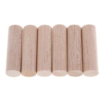 Natural sin terminar redondo Balsa palos de madera varillas para niños DIY ornamento de Navidad hecho a mano manualidad de juguete hacer
