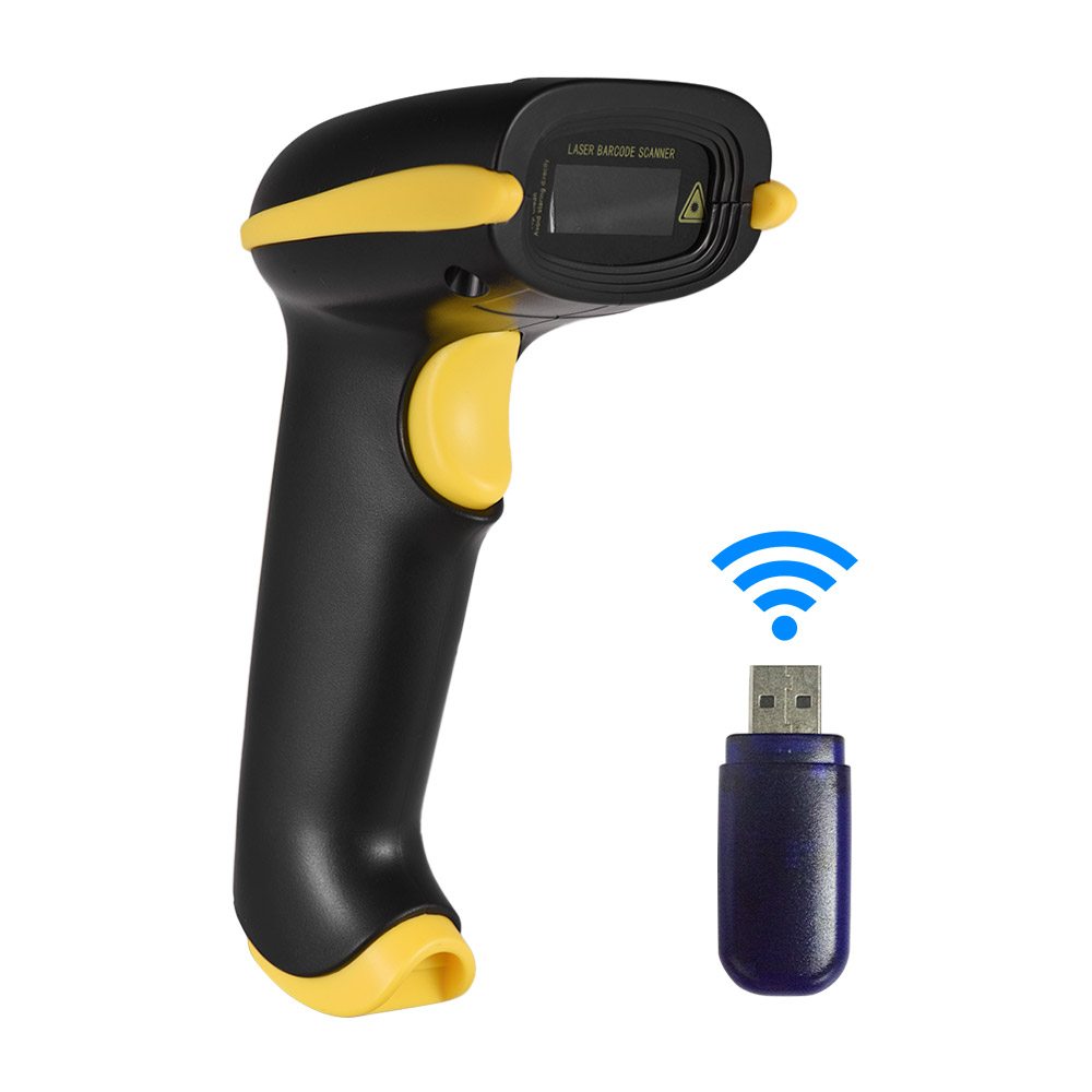 Aibecy 2-in-1 2.4G Wireless Barcode Scanner & USB Wired Barcode Scanner Automatic Handheld 2D 1D Bar Code Scanner ReaderAibecy 2-in-1 2.4G Wireless Barcode Scanner & USB Wired Barcode Scanner Automatic Handheld 2D 1D Bar Code Scanner Reader