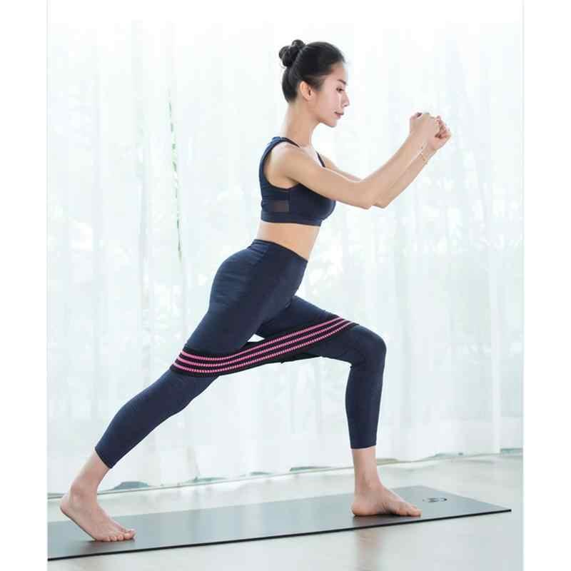 2 sztuk joga siłownia trening siłowy elastyczne odporność Hip gumy do ćwiczeń sportowe pętle pośladki opaski do ćwiczeń w domu Fitness Stretching