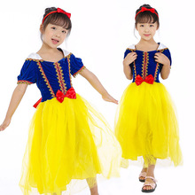 Snow White Dress Girl Kids Cosplay Costume Dresses Children Halloween Party Supplies