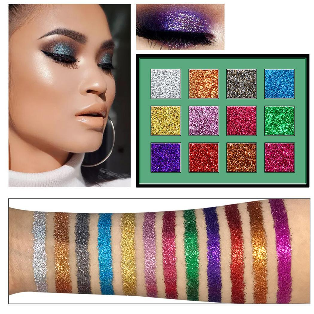 Beauty & Health 12 Colors Soft Highly Pigmented Long Shadow 3 Years Modified Lasting 122g Glitter Sequin Eyeshadow Palette To Win Warm Praise From Customers Beauty Essentials