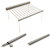 New Stainless Steel Portable Outdoor Camping Beach Folding BBQ Grill Stove