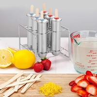 Household 304 Stainless Steel Popsicle Mold Set Of 6/10 DIY Fruit Innovative Ice Tube Mold Ice Cube Maker Fruit Vegetable Tools
