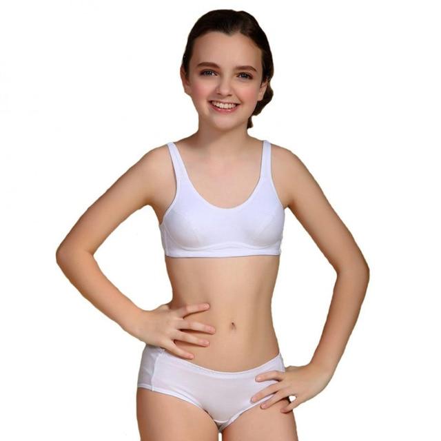 Tsfit Land Puberty Girls Kids Padded Bras And Matching Pants Sets