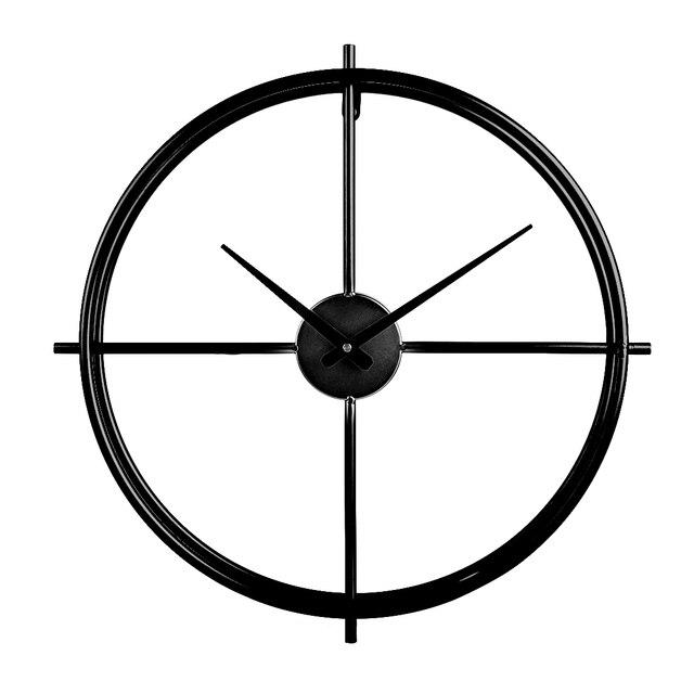 2019 50cm Retro Simple Iron Art Clock Silent Wall Clock Modern Design Large Decorative Clocks Europe For Home Living Room Decor