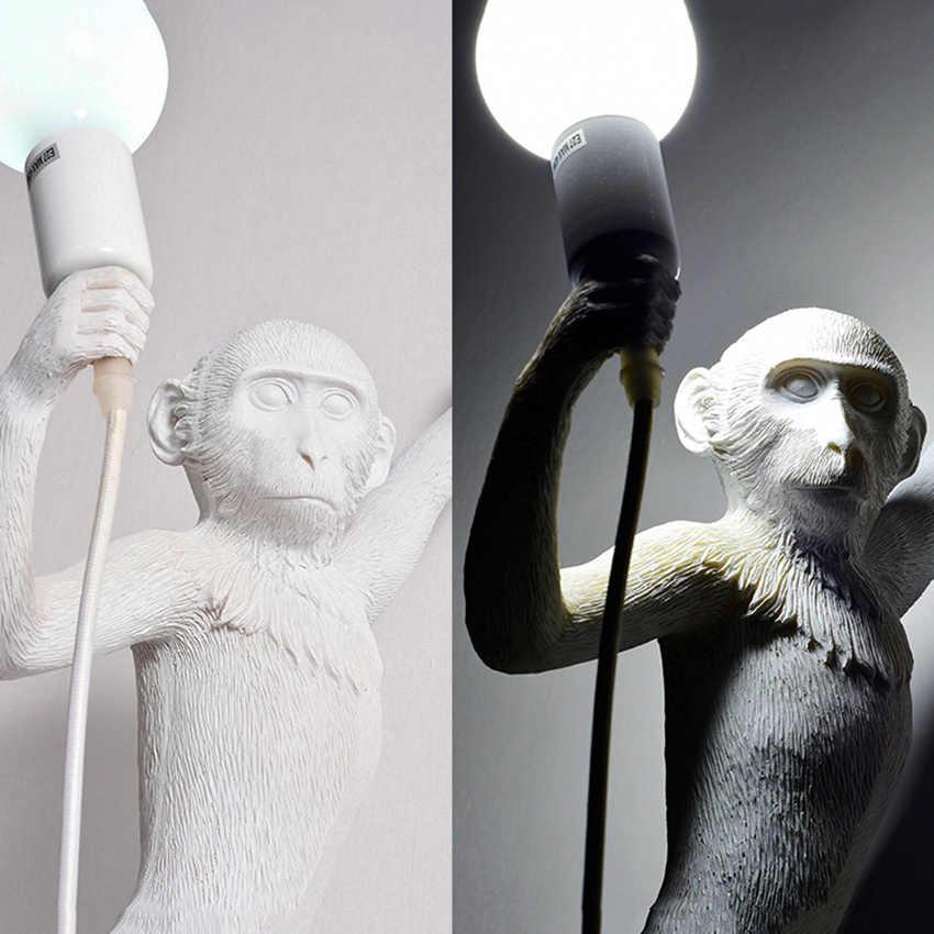 Macaco Resina lâmpada Sala de estar moderna Levou Pingente Luzes do Quarto Restaurante Luminária suspensão Luz Pingente de Lâmpada Da Cozinha Da Lâmpada Luminárias