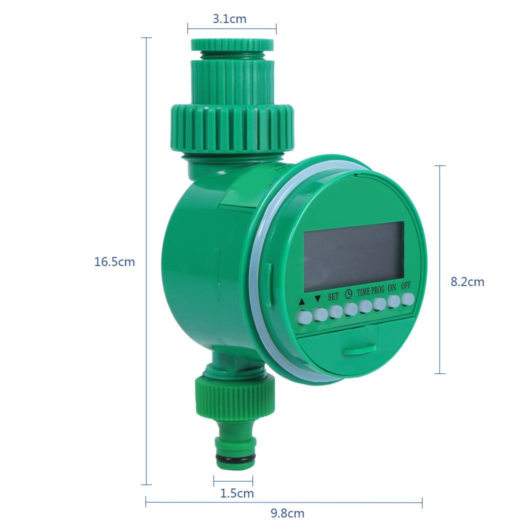 Garden Watering Timer Ball Valve Automatic Digital LCD Electronic Water Timer Home Garden Irrigation Timer Watering System(China)