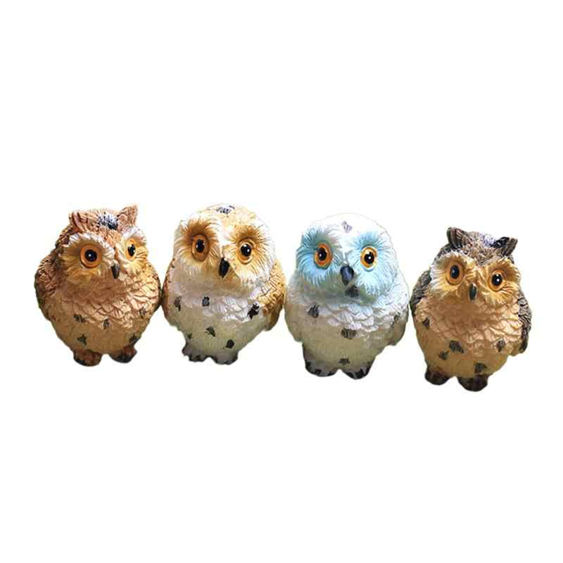WINOMO Resin Mini Miniature Exposed Owl Pattern Garden Creative Home Mediterranean Micro Landscape Decor Craft Ornament