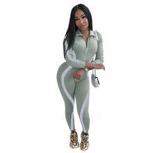 Womens Jumpsuit Reflective Striped Night Version Bodycon Casual Long Sleeve Overalls Bodysuit Sexy Rompers