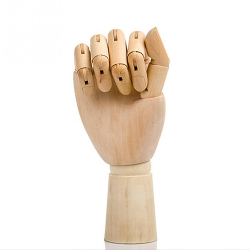 12 Artist Wooden Manikin Right Hand Manikin Posable Drawing Sketching Model with Stand /… left hand, 7
