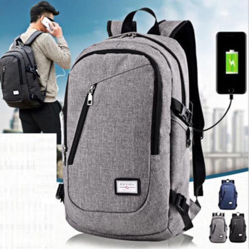 Mens Womens Laptop Backpack Rucksack Work Travel School Bags + USB Charging Port|School Bags| |  - title=