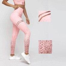 Athletic Women Pink Yoga Pants High Waist Dot Print Fitness Energy Seamless Jogging Femme Flex Leggings Gym Shark Activewear