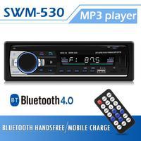 SWM JSD530 1 Din Radio Car Auto Audio Stereo Autoradio Bluetooth Dual USB With Remote Control AUX Head Unit