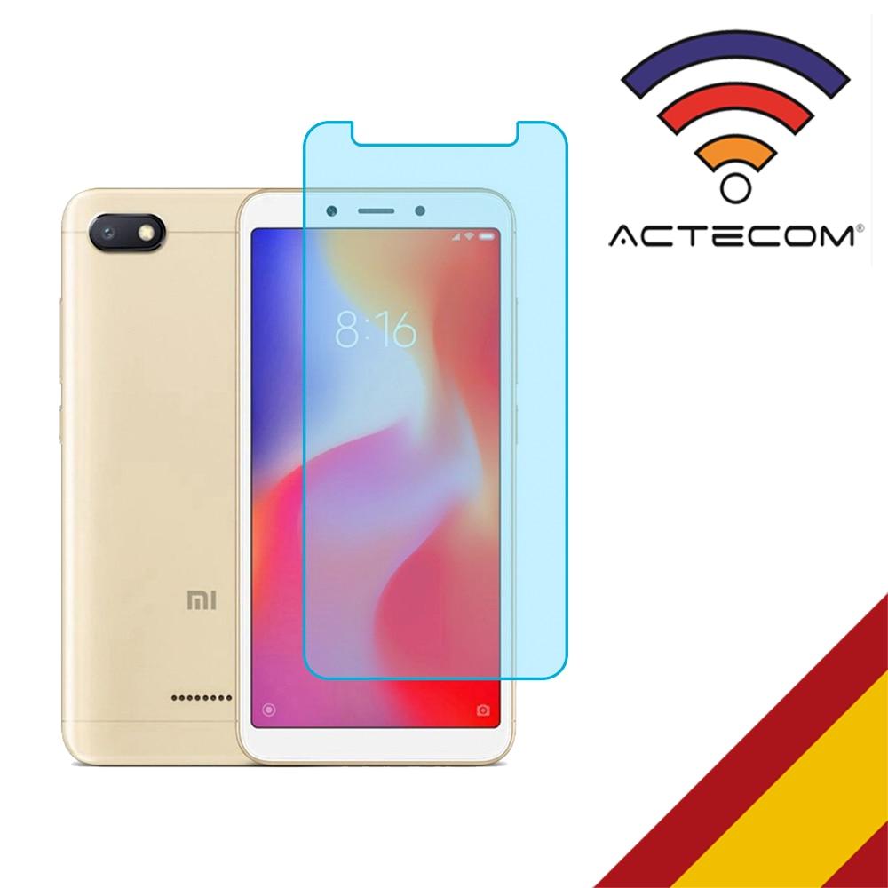 ACTECOM Protector Pantalla Cristal Templado Para XIAOMI REDMI 6 / REDMI 6A 9H 2.5D Glass Premium 0,3mm