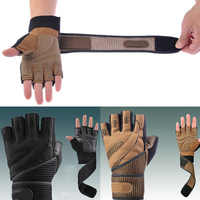 Männer Gewicht Heben Handschuhe Gym Bodybuilding Training Marke Fitness Handschuhe Sport Ausrüstung Workout Übung Luvas Handgelenk Wrap ~