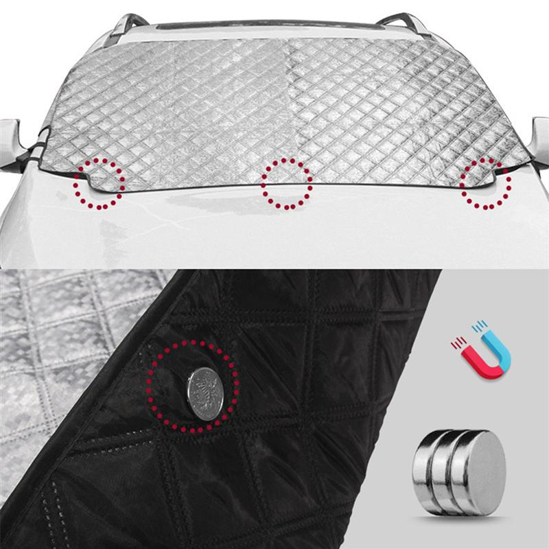 Image 2 - 3 Size Car Windshield Sun Shade Thickened Anti Wind Sun UV Sun Rain Snow Dust Protection Front Window Protectors Cover-in Car Covers from Automobiles & Motorcycles